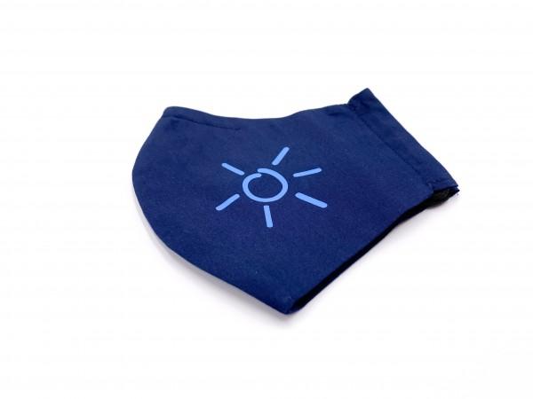 Mund-Nasen-Maske Luxus Baumwolle Marine - Blau