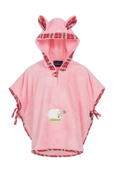 Morgenstern Badeponcho Sleepy Sheepy , rosa, 1-3 Jahre