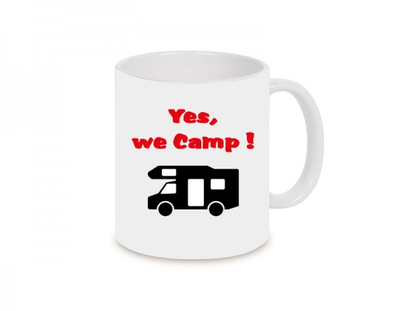 Yes we camp! Becher