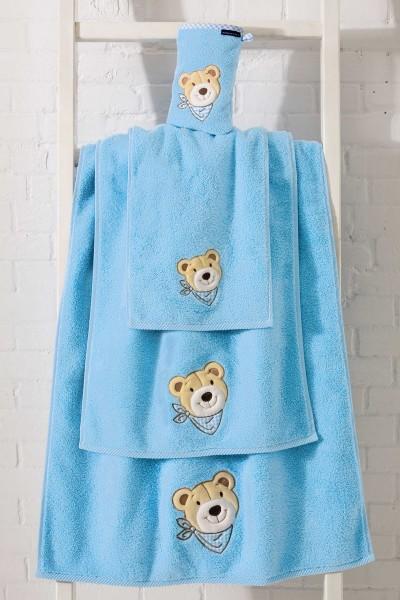 Morgenstern Bär - Waschhandschuh - Blau