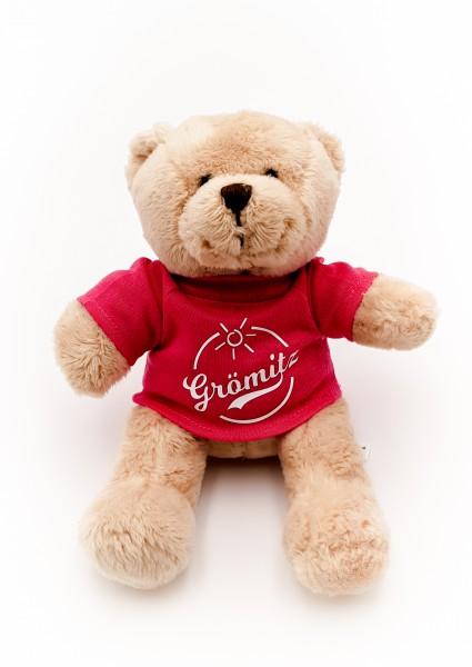 Grömitz Teddybär Braun mit pinkem T-Shirt