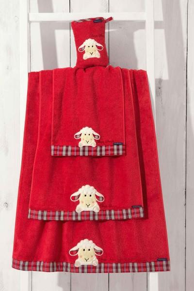 Morgenstern Sleepy Sheepy - Handtuch - Rot