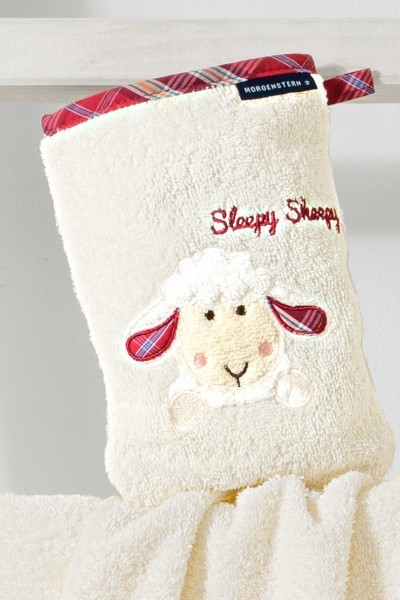 Morgenstern Sleepy Sheepy - Waschhandschuh - Natur