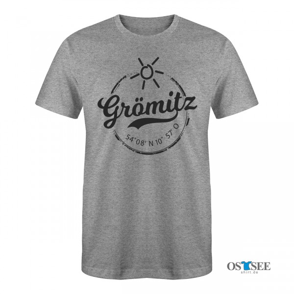 GRÖMITZ - STEMPEL T-SHIRT GRAU