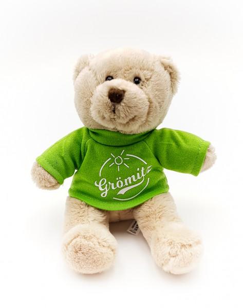 Grömitz Teddybär Braun mit grünem T-Shirt