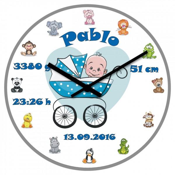 Uhr zur Geburt Jungen