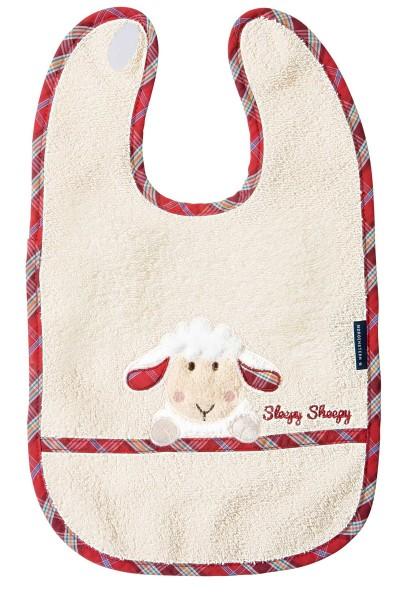 Morgenstern Lätzchen reine Baumwolle, Sleepy Sheepy, natur