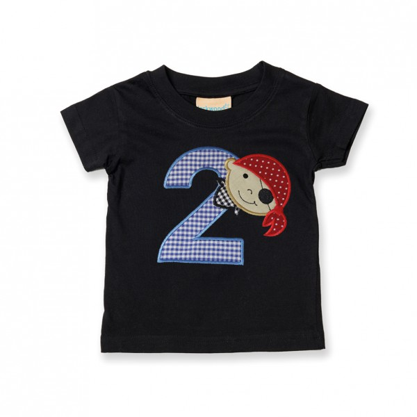 Kinder-Shirt mit Stickmotiv zum Geburtstag