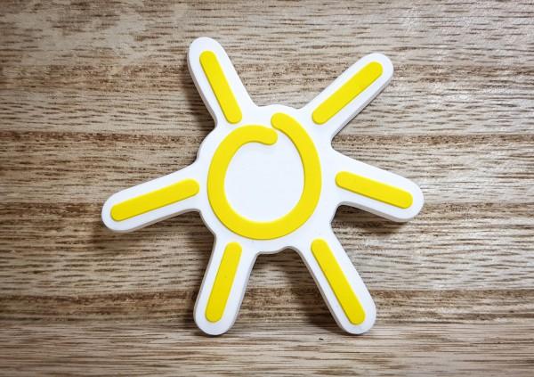 Sonnen-Magnet in Sonnengelb Weichgummi-Magnet 3D
