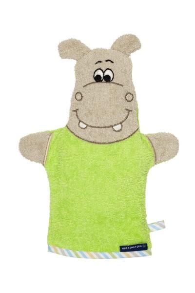 Morgenstern Hippo - Waschhandschuh - Grün