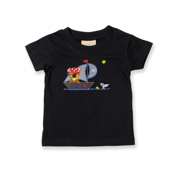 Kinder-Shirt mit Stickmotiv Bär