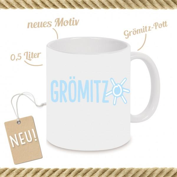 Grömitz-Pott mit Schriftzug