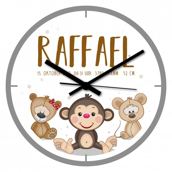 Uhr zur Geburt Raffael