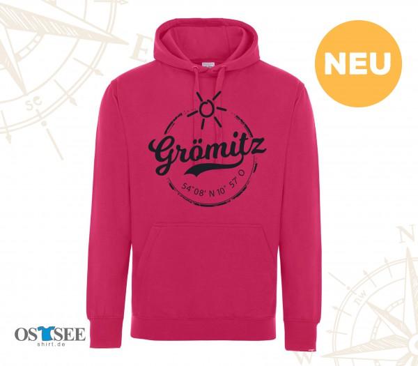HOODIE - Pink - Grömitz Stempel Aufdruck