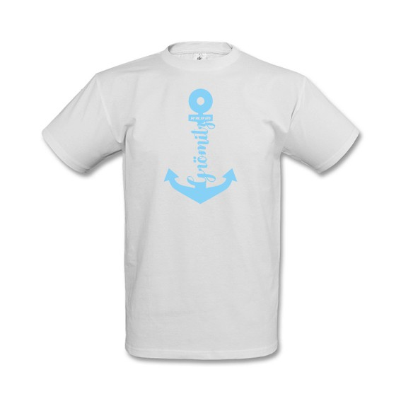 T-Shirt mit Anker Motiv Grömitz Weiß