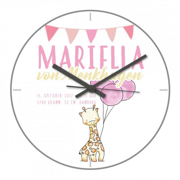 Uhr zur Geburt Mariella