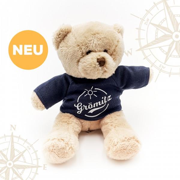 Grömitz Teddybär Braun mit dunkelblauem T-Shirt
