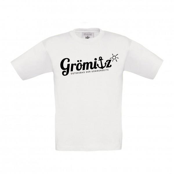 T-Shirt im Grömitz Design Kinder Weiß