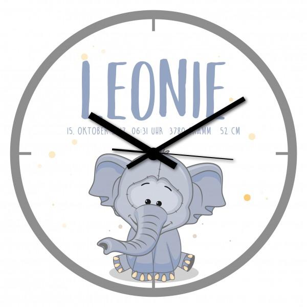 Uhr zur Geburt Leonie
