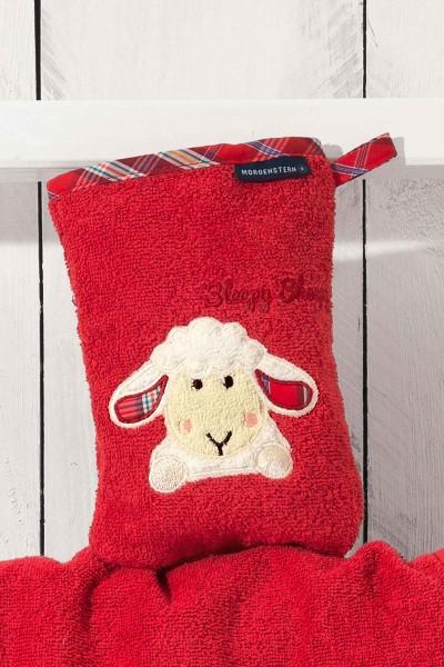 Morgenstern Sleepy Sheepy - Waschhandschuh - Rot