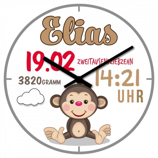 Uhr zur Geburt Affe
