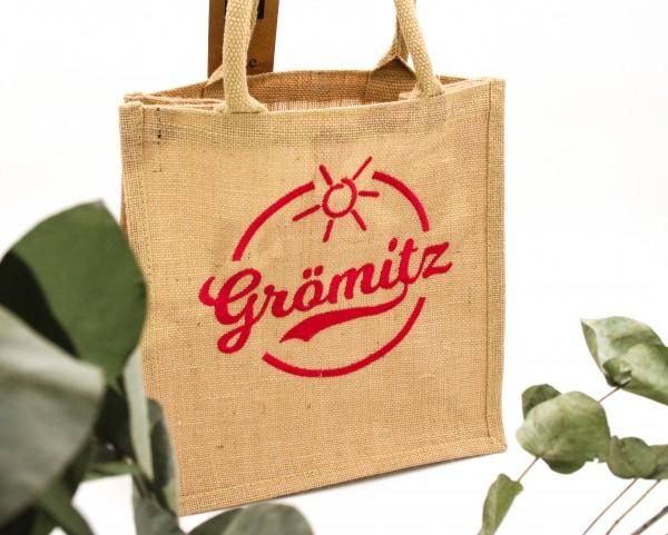 Grömitz Jutetasche mit Grömitz-Logo bestickt