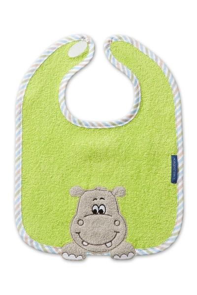 Morgenstern Lätzchen reine Baumwolle, Hippo, grün